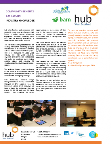 Barrhead High School – Industry Knowledge