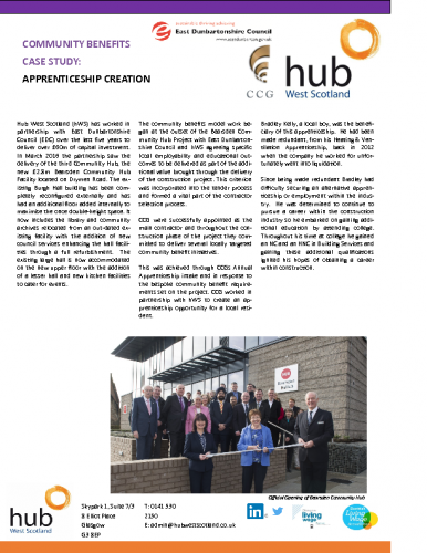 Bearsden – Apprentice Creation