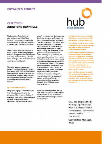 Johnstone Town Hall Community Benefits Case Study
