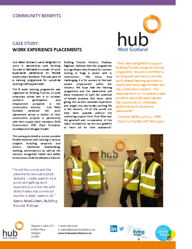 Work Experience Placements Case Study