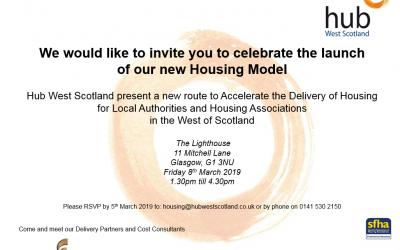 Hub West Scotland Housing Model Launch