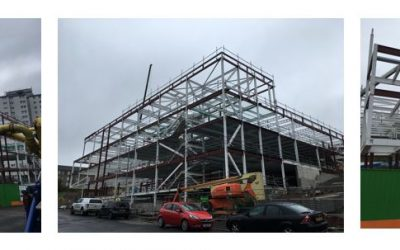 Steelworks nearing completion at the new Greenock Health and Care Centre